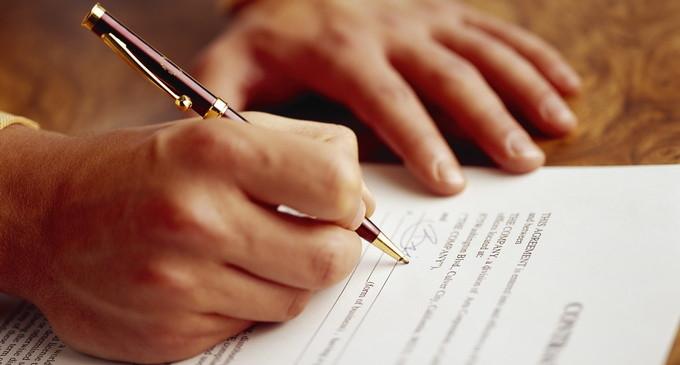 contract semnat